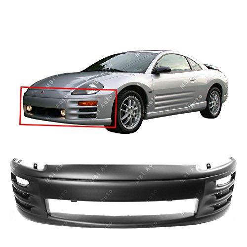 MBI AUTO - Primered, Front Bumper Cover Fascia for 2000 2001 2002 Mitsubishi Eclipse 00 01 02, MI1000268