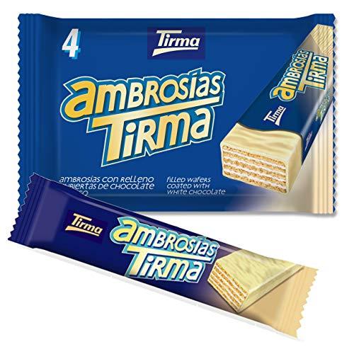 Tirma Ambrosías Blanco, Chocolate, 4 Unidades X 21.5 G, 86 Gramos
