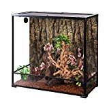 REPTI ZOO Large Glass Reptile Terrarium 100 Gallon, Front Opening Reptile Habitat Tank 36' x 18'x 36', Wide & Tall Chameleon Cage with Top Screen Ventilation (Knock-Down)