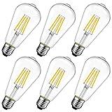 LVWIT 4W Edison Ampoule Filament LED E27 ST64 (=Ampoules Incandescences...