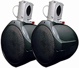 """MCM Custom Audio 60-10031 8"""" Marine Wakeboard Two-Way Speaker Pair – Black"""