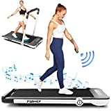 Treadmill,Under Desk Folding Treadmills for Home,2-in-1 Running, Walking&Jogging Portable Running Machine with Bluetooth Speaker & Remote Control,5 Modes & 12 Programs