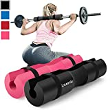 【2020 Upgraded】 Squat Pad Barbell Pad for Squats, Lunges, and Hip Thrusts - Foam Sponge Pad - Provides Relief to Neck and Shoulders While Training (Black)