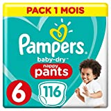 Pampers - Baby Dry Pants - Couches-culottes Taille 6 (+15 kg) - Pack 1...