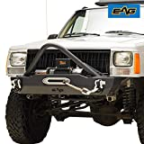 EAG Stinger Stubby Front Bumper with Winch Plate