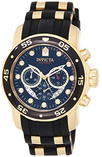 Invicta 6981 Pro Diver - Scuba Herren Uhr Edelstahl Quarz schwarzen Zifferblat
