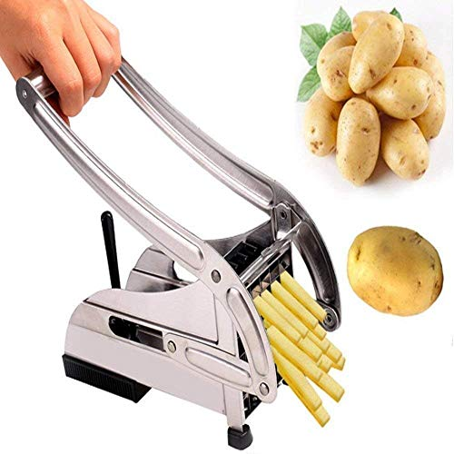 Jinelza Stainless Steel Potato Chipser French Fries Chips Maker Machine Snacks Finger, Silver,...