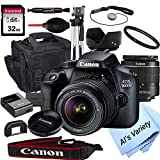 Canon EOS 4000D DSLR Camera with 18-55mm f/3.5-5.6 Zoom Lens + 32GB Card, Tripod, Case, and More...