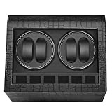 Watch Winder 4+6-This automatic watch winder offers 4 winder space for mechanical watches and extra 6 watch storage. The watch winder box will wind your 4 watches automatically and gently by simply pressing the power button. Wide Compatible-The pillo...