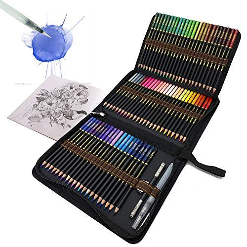 Set da 72 Matite Colorate Acquerellabili da Disegno, Comodo astuccio con zip per raggruppare e proteggere le tue matite colorateIdeali per la Scuola, per Adulti e Bambini