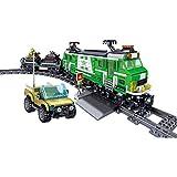 YZ-YUAN Sistema de construcción de Trenes, Equipo Armado de 890 Piezas Que transporta el Modelo de Tren, Equipo de construcción de Juguete de Tren Moc