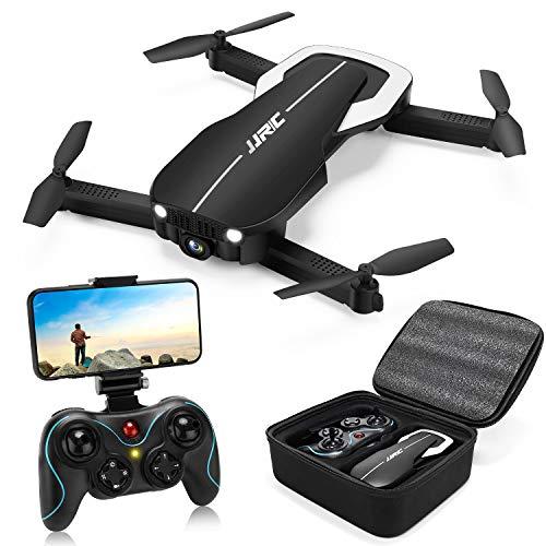 Droni RC con videocamera 1080P per adulti, Drone pieghevole JJRC H71 con mantenimento dell'altitudine del flusso ottico, 22 (11 + 11) minuti di volo, FPV Live Video Quadcopter per principianti (nero)