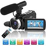 Caméscope Caméra Vidéo Full HD 1080P 30FPS 24.0MP Caméra de Vision...