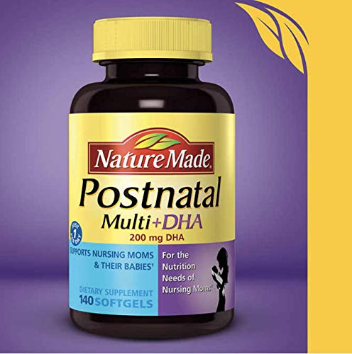 Nature Made Postnatal Multi-Vitamin Plus DHA Softgels, Pack of 1 (140 Count)