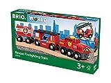 Brio World - 33844 - Train des pompiers - Sans pile - Système d'attache...