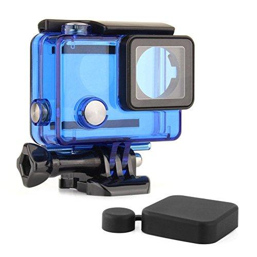 Soonsun Custodia impermeabile per fotocamere GoPro Hero 4/3+/3,nero e argento