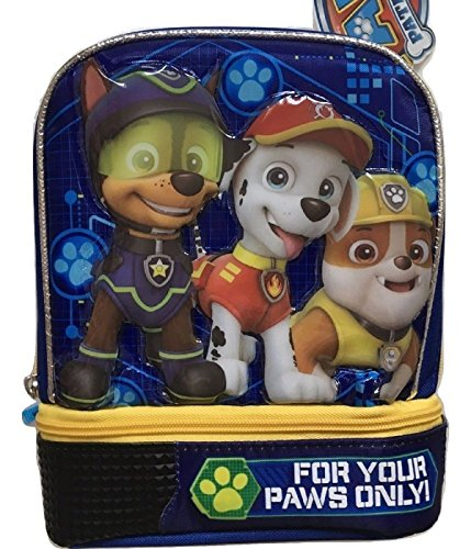 Blue dome shape two compartment lunch pack paw patrol bag