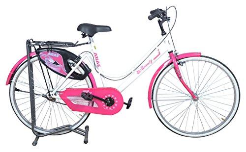 Atlas Beauty 26T frame Unisex BMX Bike ( White & Pink)