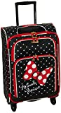 American Tourister Disney Softside Luggage with Spinner Wheels, Minnie Mouse Red Bow