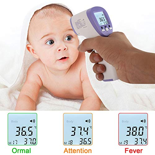 Digital Thermometer,Infrared Thermometer, Thermometer for Fever, 2020 Upgrade Forehead Thermometer - Infrared Digital Medical Thermometer,Adult Infant Digital IR Body Thermometer Sendk