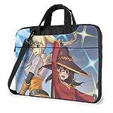 XCNGG KonoSuba Megumin Anime Laptop Hombro Messenger Bag Tablet Computadora de Almacenamiento Mochila Bolso de Mano de 15.6 Pulgadas