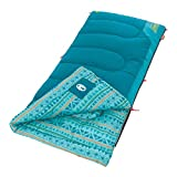 Coleman Kids Sleeping Bag | 50°F Sleeping Bag for Kids | Cool Weather Sleeping Bag, Teal, 60' x 26'