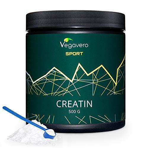CREATINA Vegavero® Sport | 500 g con misurino incluso | Insapore, Monoidrata e Micronizzata 200 Mesh | Ottima Solubilità | Vegan