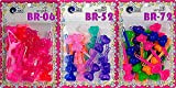 Tara Girls Self Hinge Plastic Bow Hair Barrettes Selection Pack Of 3 (COMBO 1)