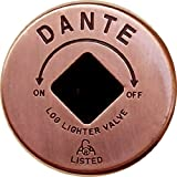 Dante Products FP.GV.AC Antique Copper Floor Plate for Dante Globe Valve