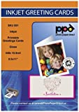 PPD Inkjet Glossy Printable Greeting Cards LTR 8.5 x 11' 64lbs. 240gsm 10.9mil With Envelopes x 50 Sheets (PPD051-ENV-50)