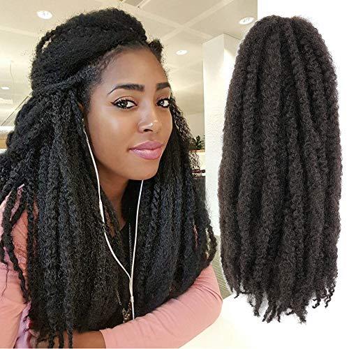 Callia Marley Hair For Twists 6 Packs Marley braiding Hair 18' Afro Kinky Marley Twist Braid Hair Extensions (18Inch, 4)