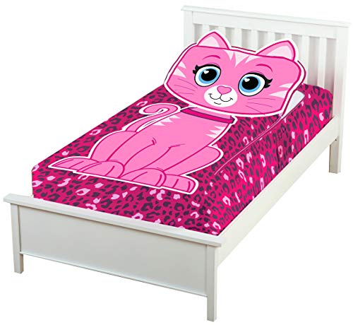 ZippySack Kitty - Don't Make Your Bed, Zip It Up Instead! Multi-Solution Fitted, Zippered Super Soft Plush Blanket. No More Messy Kids Beds! No More Cold Uncovered Nights! (Twin Size)