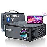 Vidéoprojecteur WiFi Bluetooth Full HD 1080P, 7500 Lumens WiMiUS Rétroprojecteur 1080P Supporte 4K Réglage 4D Fonction Zoom Projecteur WiFi Portable Home...