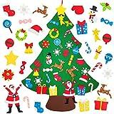 32PCS Felt Christmas Tree for Kids Toddlers Children 3.1ft DIY Felt Xmas Tree for Wall Christmas Decorations