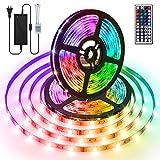 AMBOTHER Ruban LED 10M DIY Luminosité Réglable LED Ruban RGB Dimmable 5050 300 LEDs Ruban Led Multicolore avec Télécommande à 44 Touches Bande LED Bande...