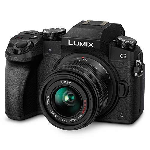 Panasonic Lumix G7 4K Digital Camera, with Lumix G VARIO 14-42mm Mega O.I.S. Lens, 16 Megapixel Mirrorless Camera, 3-Inch LCD, DMC-G7KK (Black)