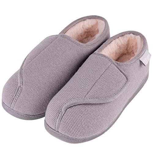 LongBay Women's Furry Memory Foam Diabetic Slippers Comfy...