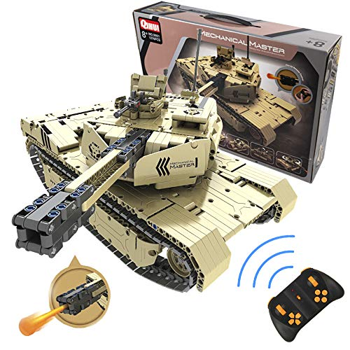 CELMAN Tiger 1 RC Radiocomandato CARRO Armato con Il TIRO al Cannone Construzioni Blocchi Mechanical Master Blocks 1276 Pezzi