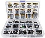 Riesiges IC Sortiment enthält: PC817, NE555, LM358, LM324, JRC4558, LM393, LM339, NE5532, LM386, TDA2030, TDA2822, PT2399, UC3842AN, UC3843AN, ULN2003AN, ULN2803APG, ICL7660s inkl. 1 DIP-8 auf SOP-8 Durchgangsloch auf SMD Konverter Adapter Inklusive ...