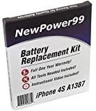 Battery Kit for iPhone 4S A1387 with Video Instructions, Tools, and Extended Life Battery from NewPower99