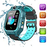 Beacon Pet Kids Smart Watches for Girls Boys with GPS Tracker SOS Call Alarm Clock Camera Touch Screen Sport Intelligent Smartwatch HD Spy Safety Phone Watch for Kid Birthday Gift (Green)