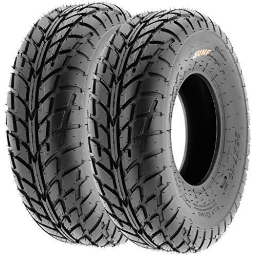 Pair of 2 SunF A021 TT Sport ATV UTV Dirt & Flat Track Tires 19x7-8, 6 PR, Tubeless
