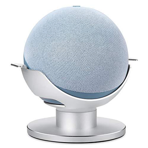 Phrat Soporte De Mesa para Echo Dot 4 Generation, Soporte De Escritorio, Soporte De Soporte Ajustable De 360 °, Mejora La Visibilidad Y La Apariencia del Sonido (para Echo Dot 4a Generación)