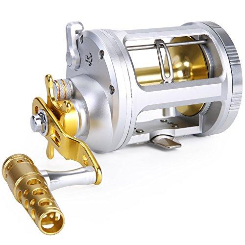 Un Bass Fishing Reel Livello Vento Traina Bobina di Jigging convenzionale per acqua salata Grande Gioco di Pesca (TA5000)