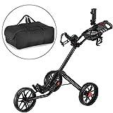 Caddytek Quad pliage chariot de golf 3 roues Super Deluxe et avec le sac...