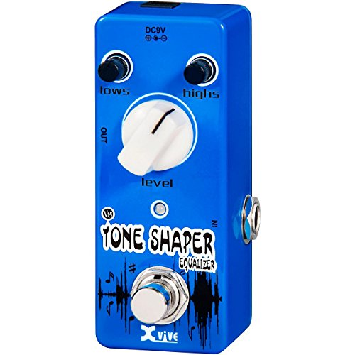 XVive XVV15 Tone Shaper Micro Guitar Effects Pedal for Bass or Guitar