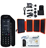 SatPhoneStore Inmarsat IsatPhone 2.1 Satellite Phone Hiker Package with Solar Charger and Prepaid 500 Unit (333 Minutes) SIM Card Ready for Easy Online Activation