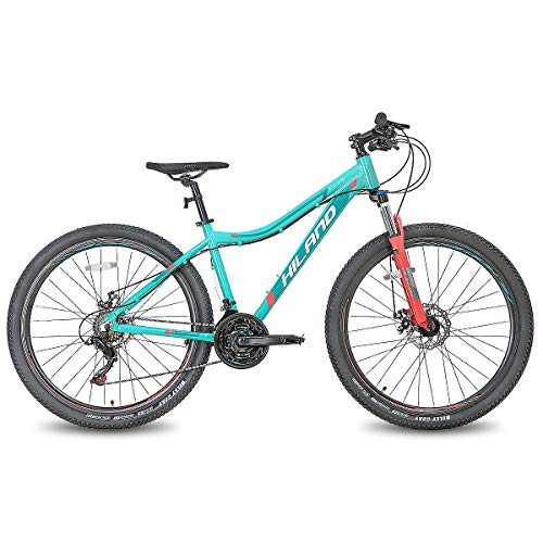 Product Image 2: Hiland 27.5 Inch Mountain Bike 24Speed MTB Bicycle for Women 16.5 Inch with Suspension Fork Urban Commuter City Bicycle Mint Green