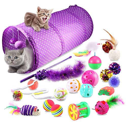 Yosemy Juguetes para Gatos Interactivos De Entrenamiento, 20 Piezas