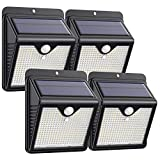 Trswyop Lampe Solaire Extérieur 4 Pack 150 Led, Détecteur de Mouvement...